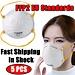 Mondkapje 5 Pcs Ffp2 Eu Beschermhoes Veiligheid Ademend Gezicht Mond Masker Stofdicht Geventileerde Bacteriën Luchtwegen KF94 N95 Mond masker