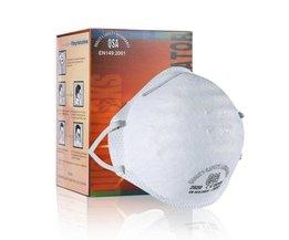 Mondkapje FFP2 Hetzelfde Als N95 Ronde Masker Stofmasker Anti-pm2.5 Riding Gezicht Bescherming Masker 95% Anti- deeltje Masker