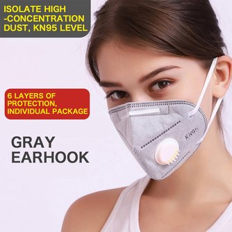 In Voorraad KN95 Mondkapje Gezichtsmasker Anti Dust Bacteriële Griep Masker Valved Gezicht Ffp2 N95 FFP3 Anti PM2.5 Veiligheid Protectiver Mond gezicht Maskers
