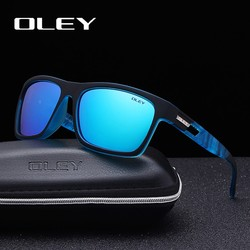 MyXL Guy's Zonnebril Van OLEY Gepolariseerde Zonnebril Klassieke TR90 vrouwen bril 7-in-1 luxe doos aanpasbare logo YG203