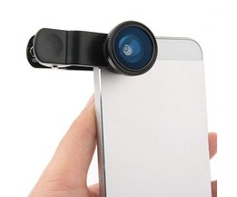 3 in 1 Lieqi Clip Lens Macro Visooglens voor iPhone Samsung HTC iPad Tablet