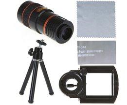 Universele Iphone - 8 x Zoom telescoop Zwart