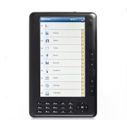 7 inch Ebook Reader 4GB Zwart