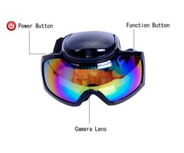 Skibril Goggles met HD camera