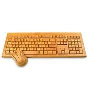 Houten toetsenbord met muis combi