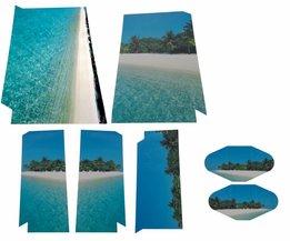 Playstation 4 Sticker Tropisch Eiland