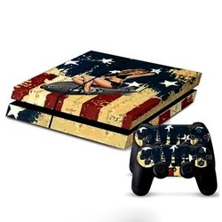 Playstation 4 Sticker USA Bomber Girl