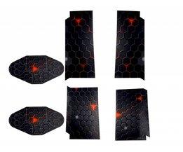 Playstation 4 Sticker Zwart Hexagoon Patroon