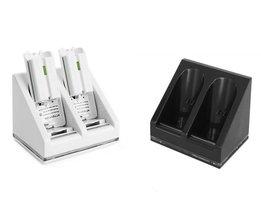 Duo oplaadstation voor Wii / Wii U Controller Wit of Zwart