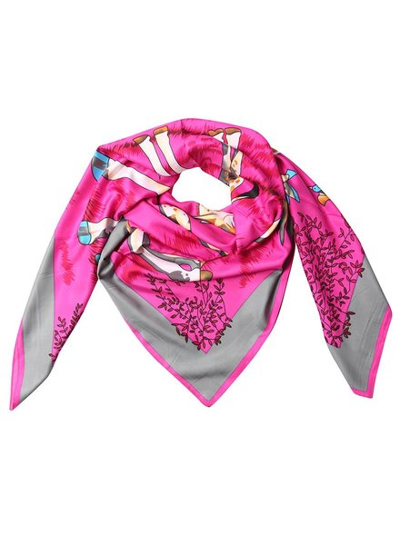 Kisamova Giraffe printed scarf pink