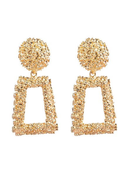 Kisamova Earrings textured glam gold