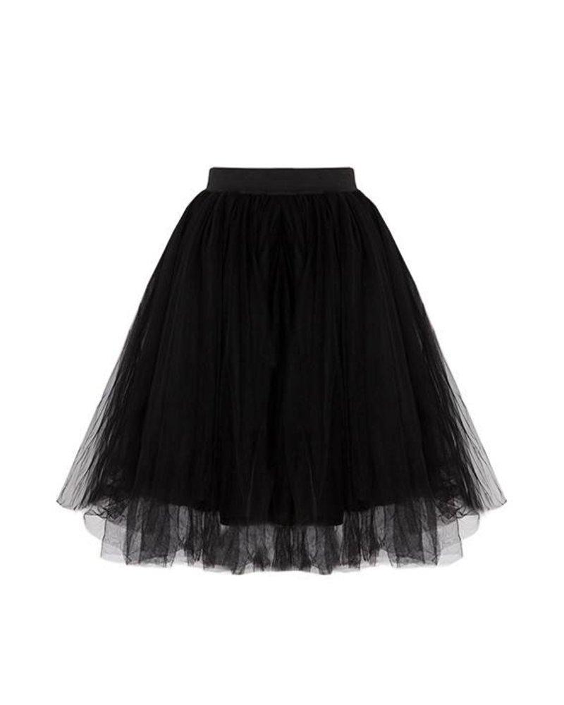 Kisamova Zwarte tule rok medium
