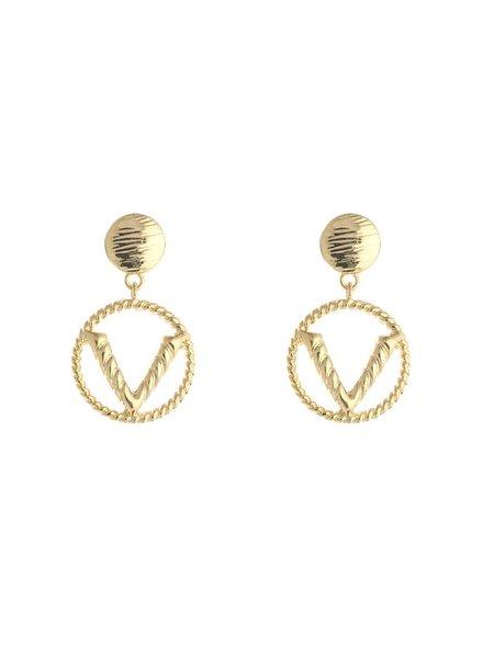 Kisamova Earing V goud