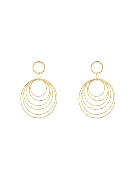 Kisamova Earrings circles gold