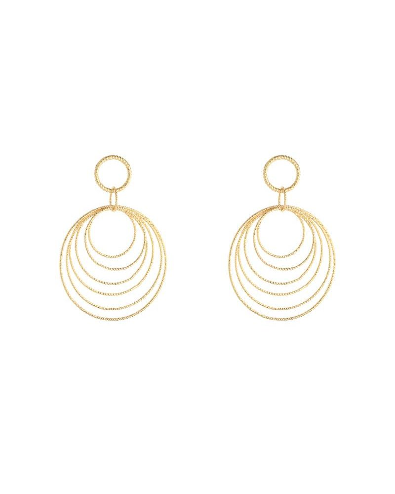 Earrings circles gold