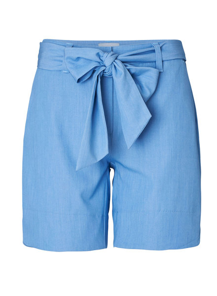 2nd-one Carine 200 Blue Chambray Tie Shorts