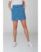 2nd-one Kaia 026 Light Zebra Belted Skirt