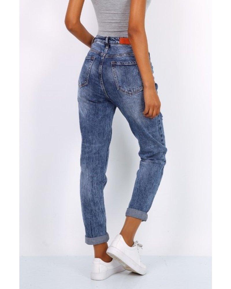Toxik3 Blue Boyfriend Jeans