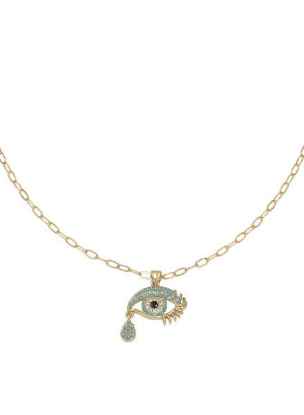 Kisamova Blue Tears Necklace