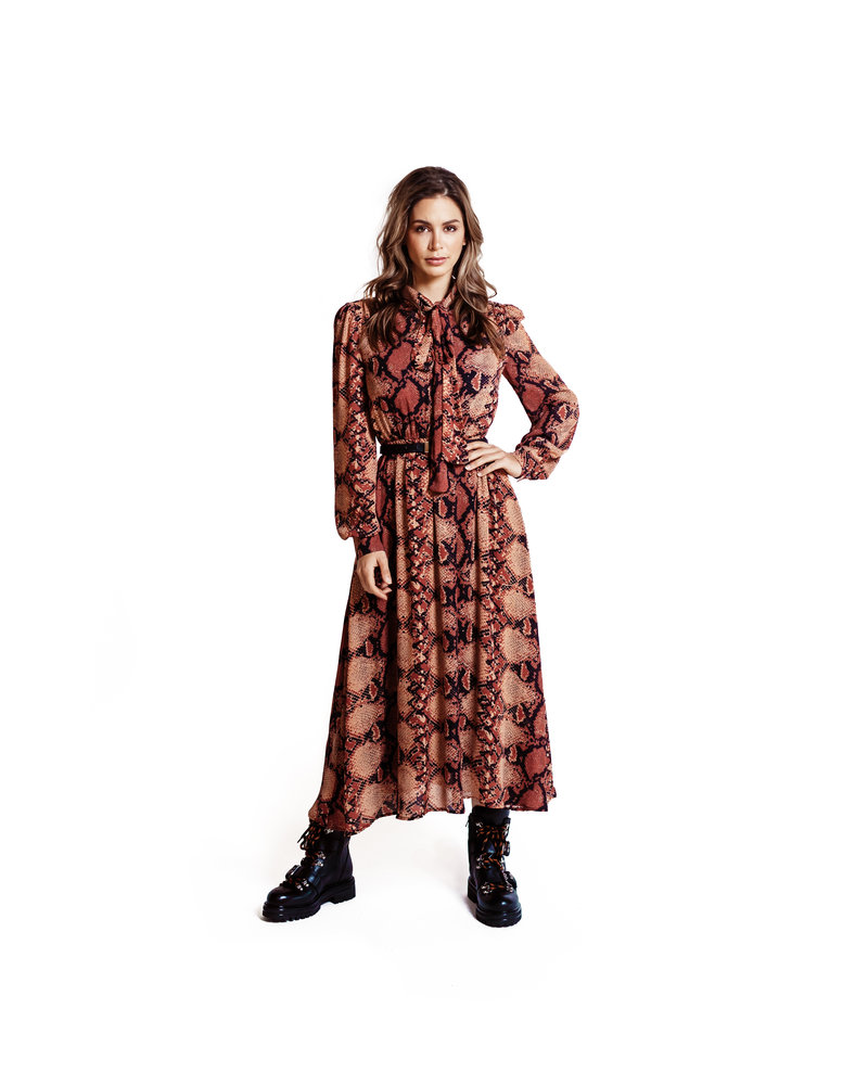 JACKY LUXURY Snake Maxi Dress