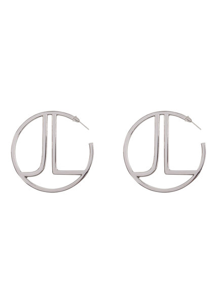 JACKY LUXURY Silver Hoops