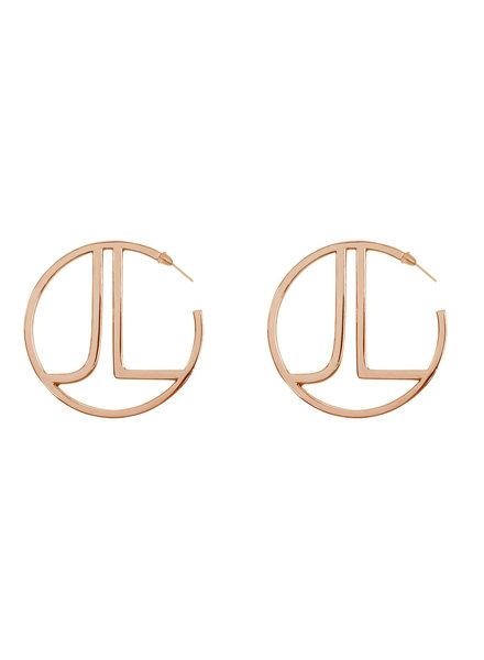 JACKY LUXURY Rose Gold Hoops