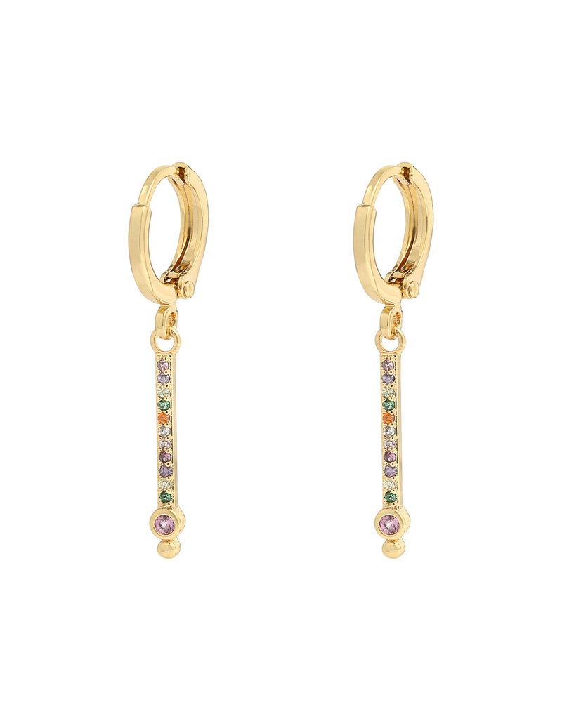 Kisamova Earrings Bar Rhinestones Colour