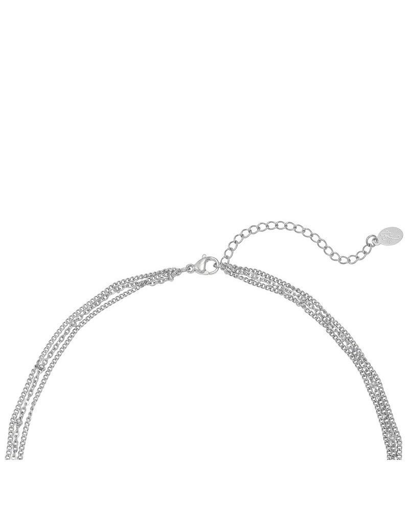Kisamova 3 lagen ketting zilver