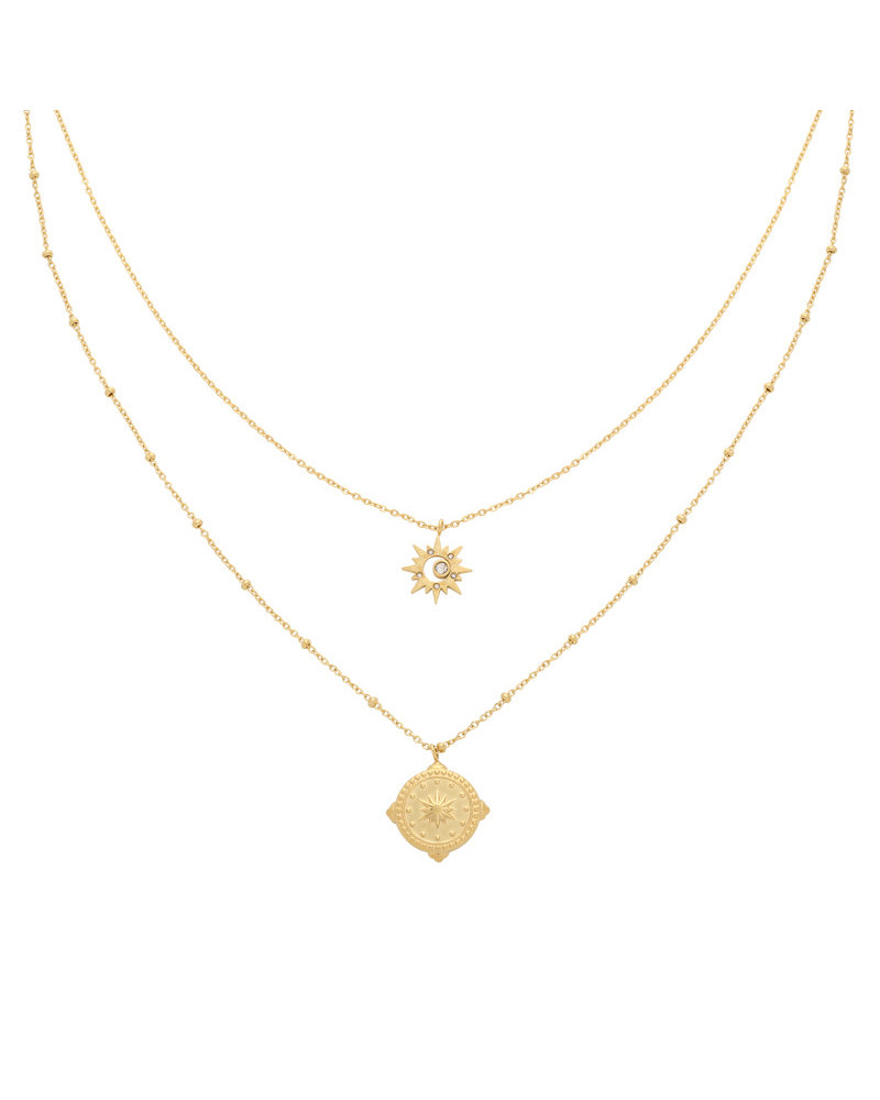Kisamova Gouden kompas ketting