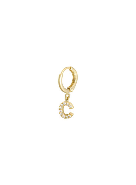 Kisamova Initial Earring C