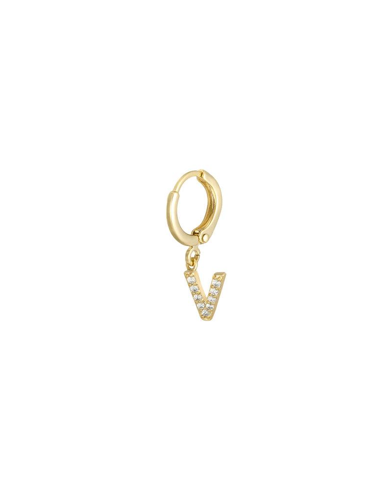 Kisamova Initial Earring V