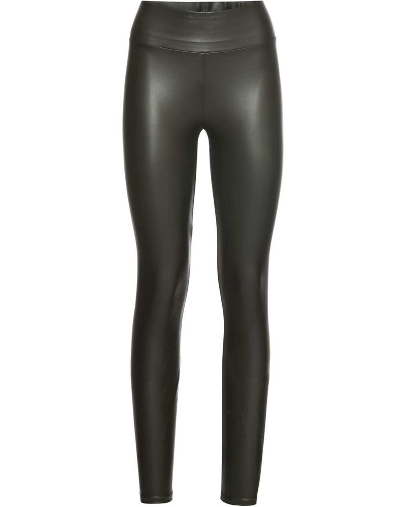 Kisamova Leather Look Legging Khaki