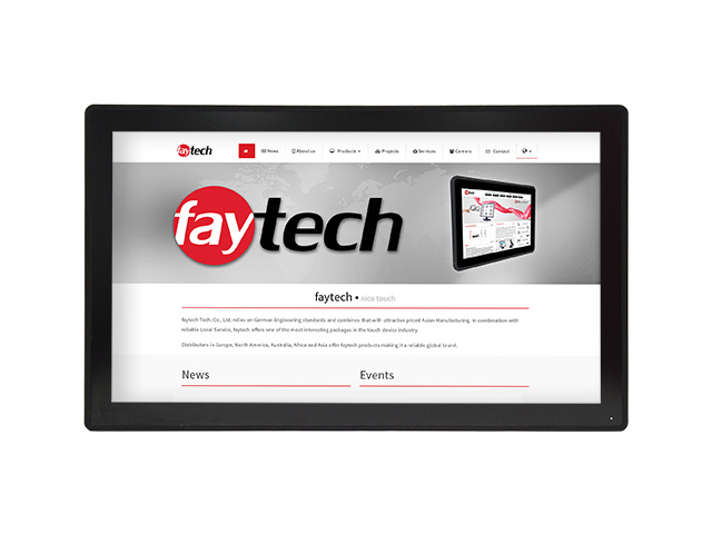 27 inch capacitive touch monitor FT27TMBCAPOB | faytech Nederland
