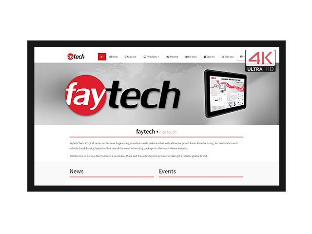 55 inch open frame capacitive 4K touch monitor