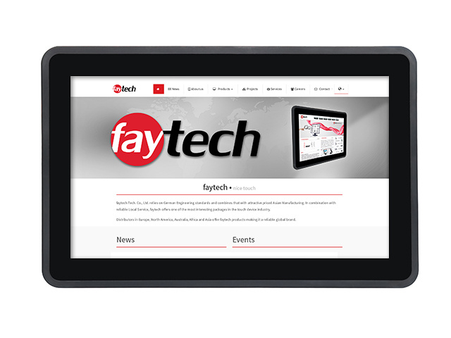 13,3 inch capacitive touch monitor FT133TMBCAPOB | faytech Nederland