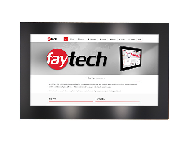 15,6 inch open frame capacitive touch monitor | faytech Nederland