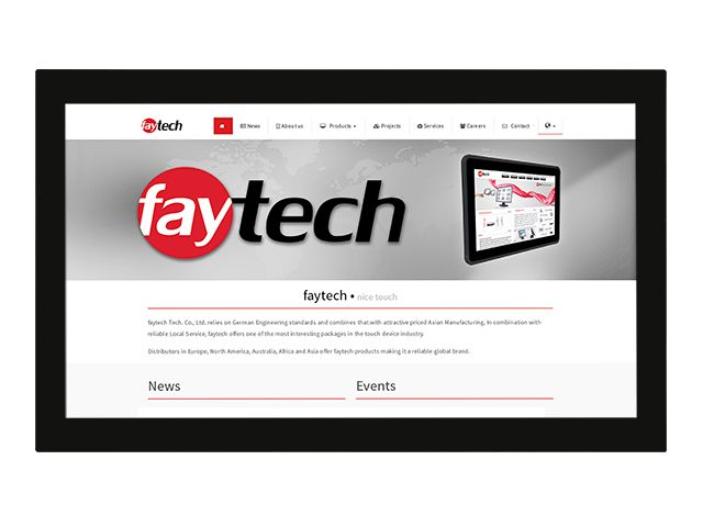 32' Open Frame Capacitive Touch Monitor | faytech Nederland