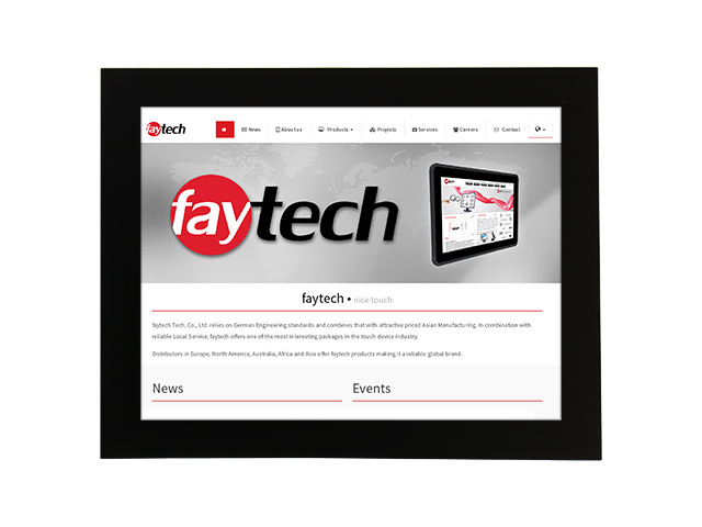 15'' Open Frame Capacitive Touch Monitor | faytech Nederland