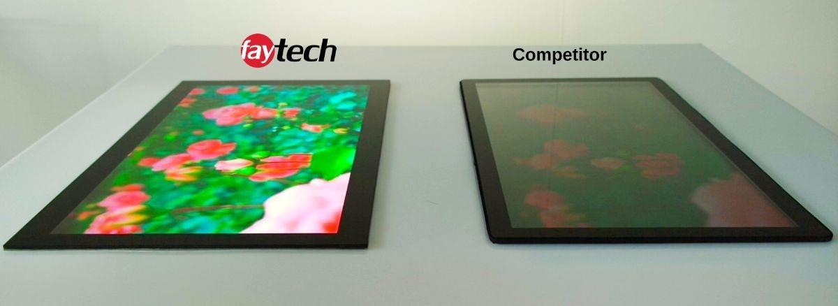 faytech open frame touch monitor, optisch gelijmd en hoge helderheid