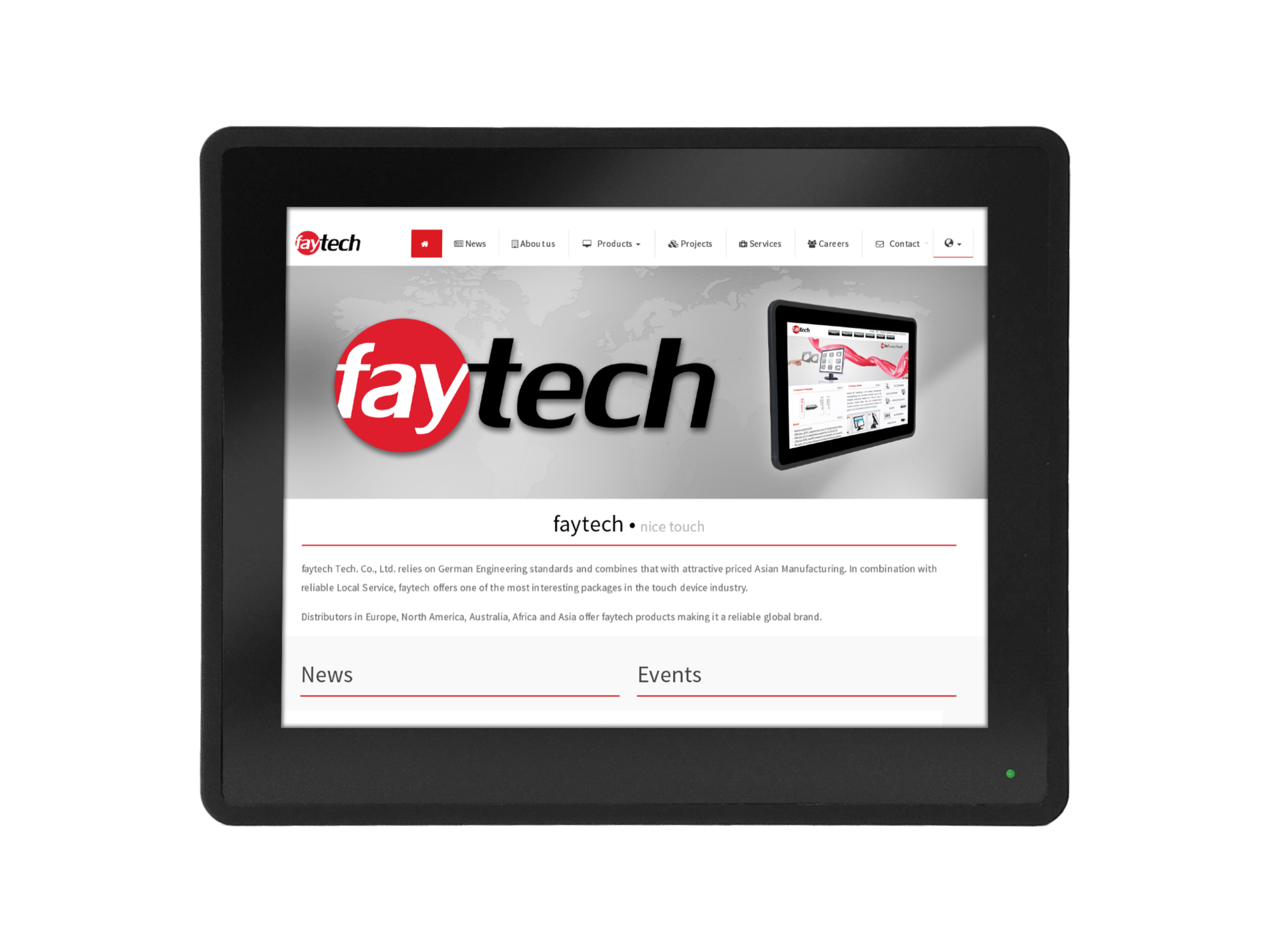12,1 inch capacitive touch monitor FT121TMCAPOB  faytech Nederland