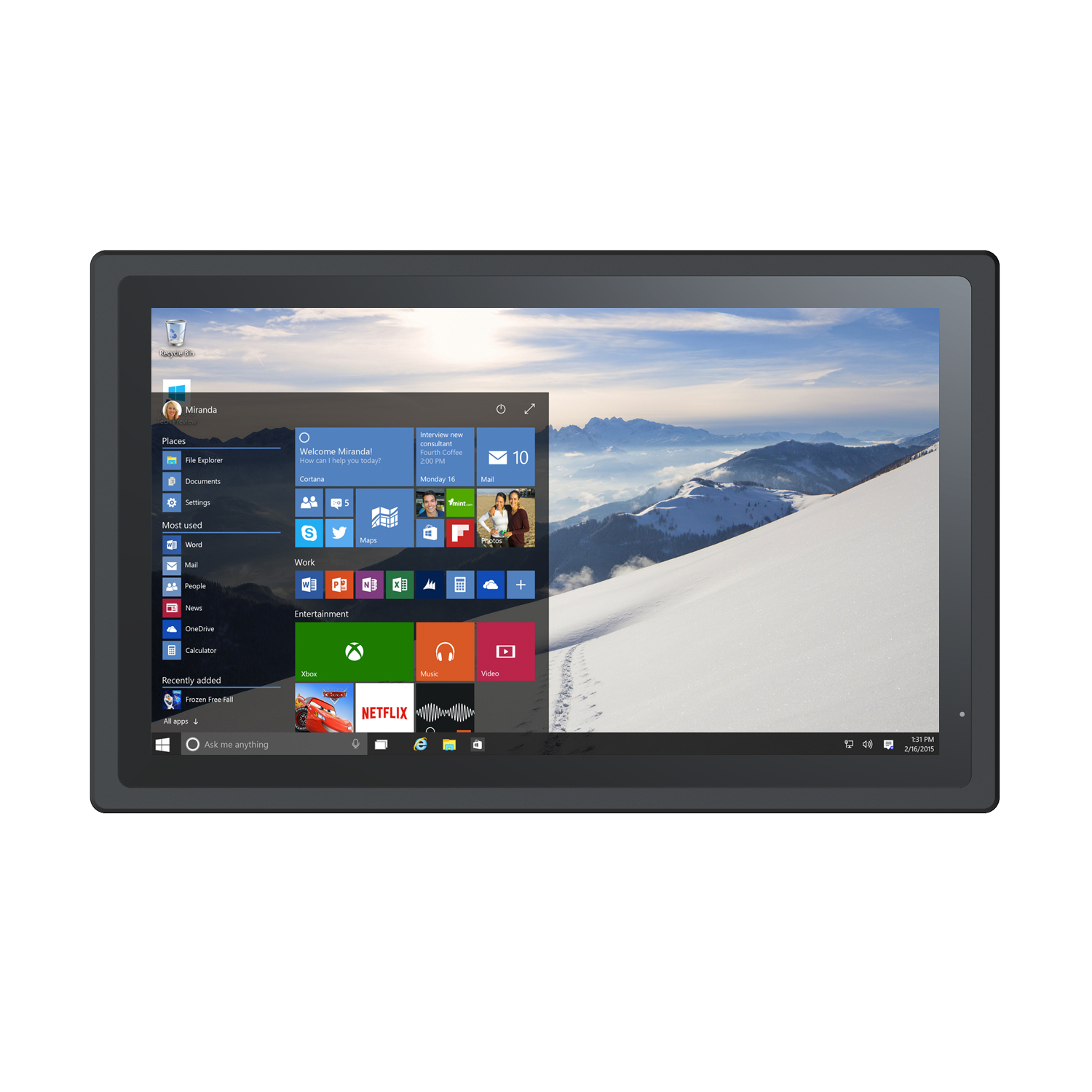 21,5 inch touchscreen panel pc
