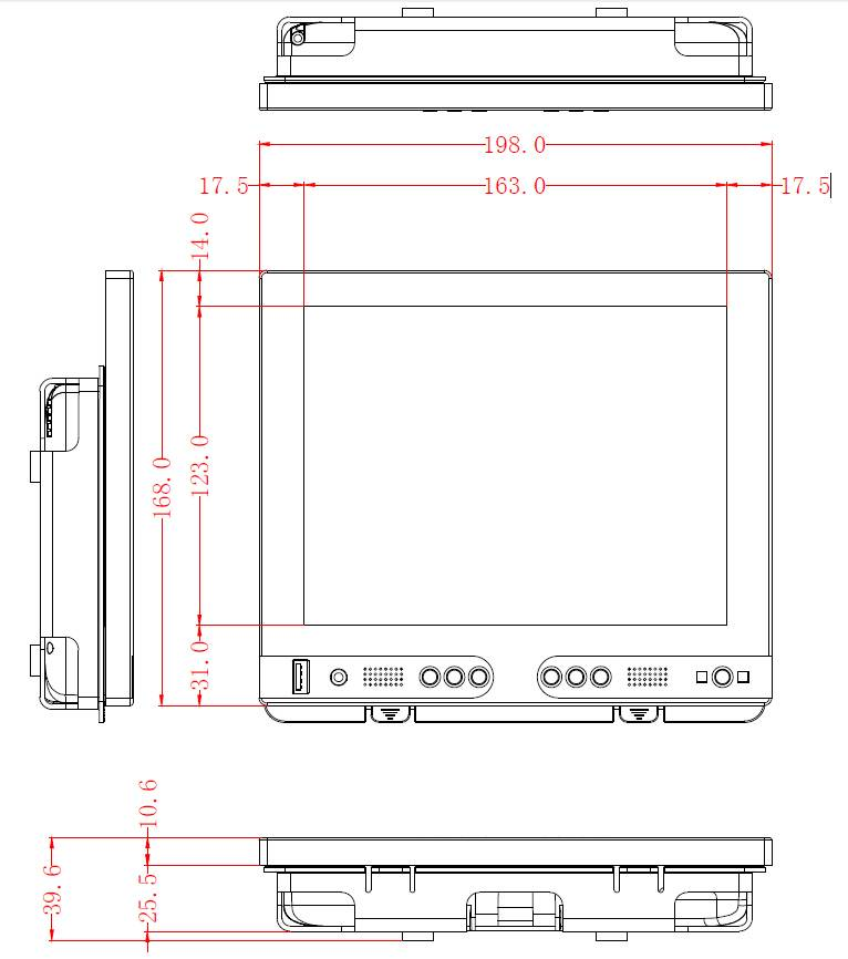 "8"" Resistive Touchscreen Monitor FT08TMB | faytech Nederland"