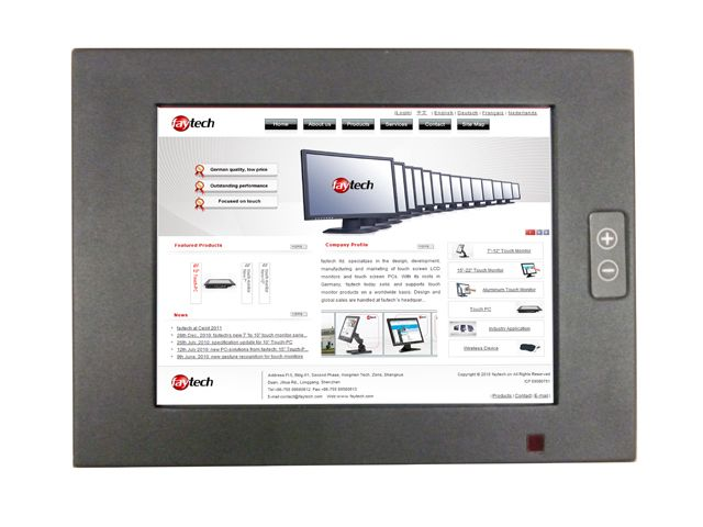 "8"" IP65 High Brightness Touch Monitor"