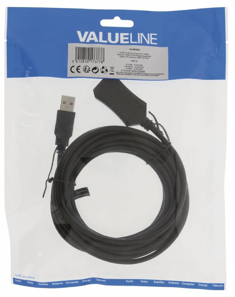 VLCRP6005 USB 2.0 verlengkabel 5.00 meter