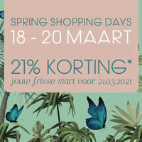DJYM x RainPharma Spring Shopping Days 18 tot 20 maart 2021