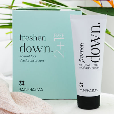 Rainpharma Freshen Down Foot Deodorant 2+1 gratis