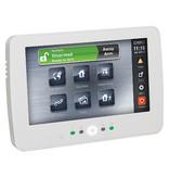 DSC Bedraad Touchscreen bedienpaneel met Prox lezer, wit