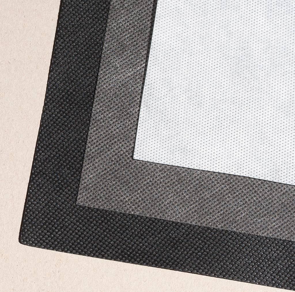 PP-Spinnvliesstoff 80 g/m², Schwarz, Breite 160 cm, 125 m