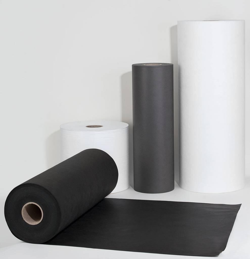 PP-Spinnvliesstoff 100 g/m², Schwarz, Breite 100 cm, 125 m, schwer entflammbar nach B1