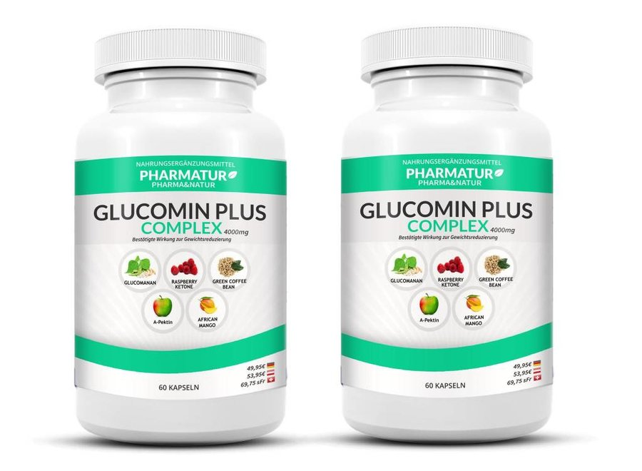 Pharmatur Set de 2 envases de Glucomin Plus